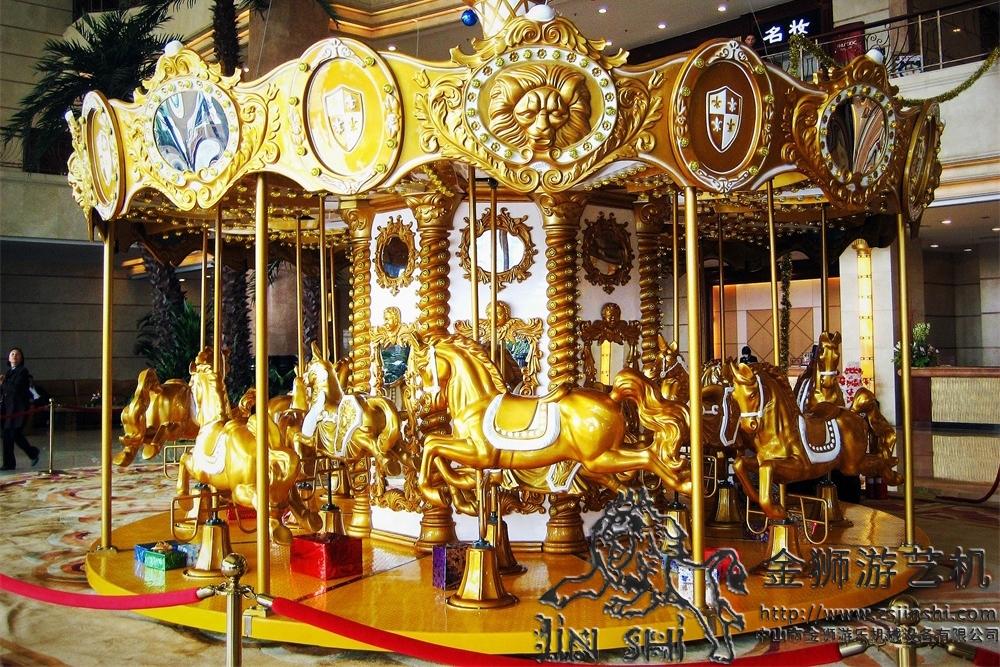 16座金色转马